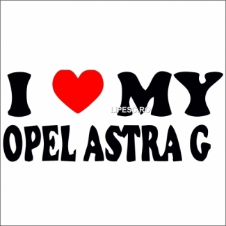 Sticker Opel astra g