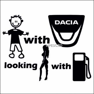 Sticker funny Dacia