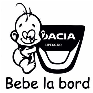 Sticker bebe la bord Dacia