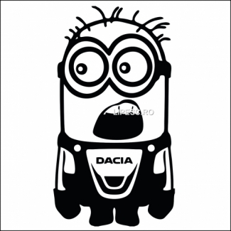 Sticker minion Dacia