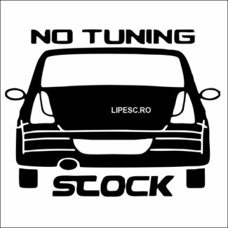 Sticker no tuning stock Logan