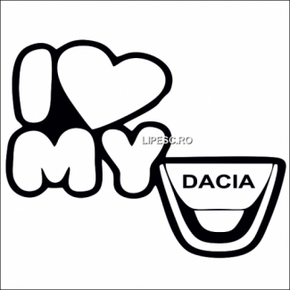 Sticker i love my Dacia