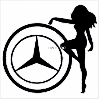 Sticker Mercedes girl