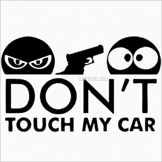 Sticker don't touch my car