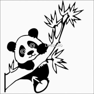 Sticker auto ursulet panda