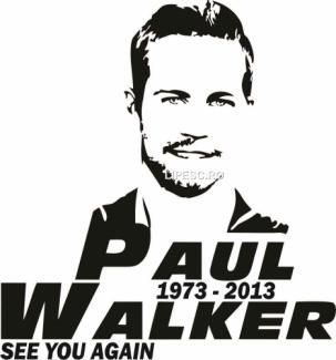 Sticker Paul Walker