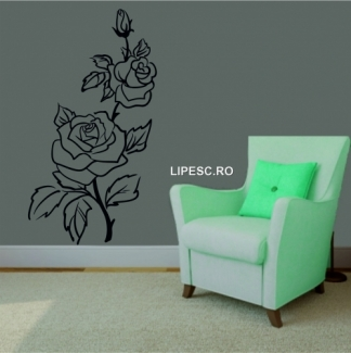Sticker floral trandafiri