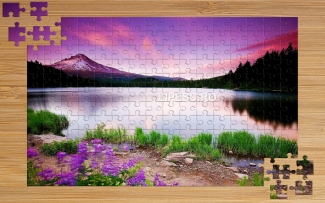 Puzzle cu lac celebru