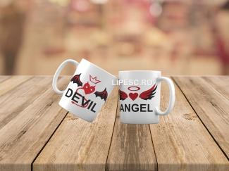 Căni pentru cupluri Angel&Devil