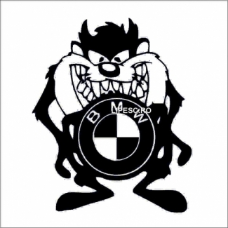 Sticker tazmatian Bmw