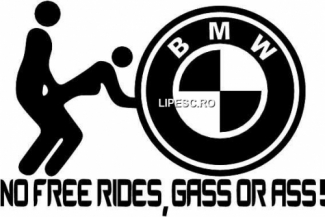 Sticker No free rides Bmw