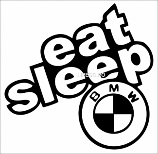 Sticker eat sleep Bmw