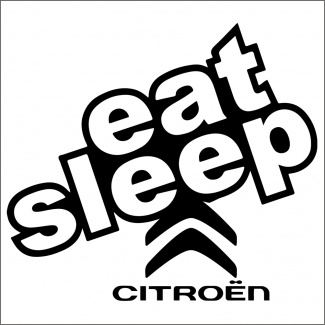 sticker eat sleep citroen